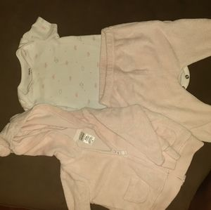 Carters infant girls 3 pc pants set